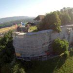 Gerüste für historische Gebäude